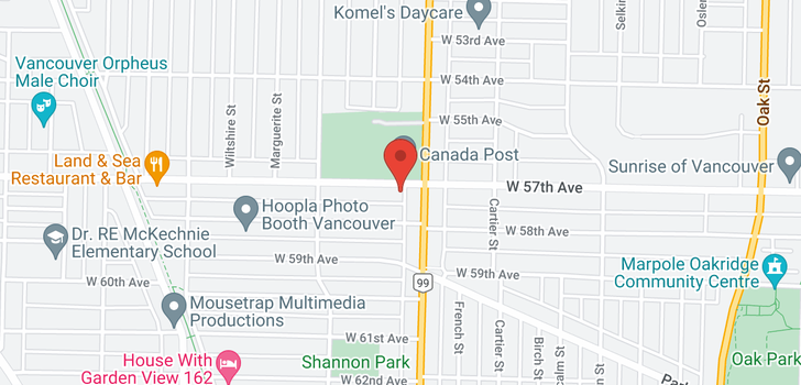 map of 1510 W 57TH AVENUE