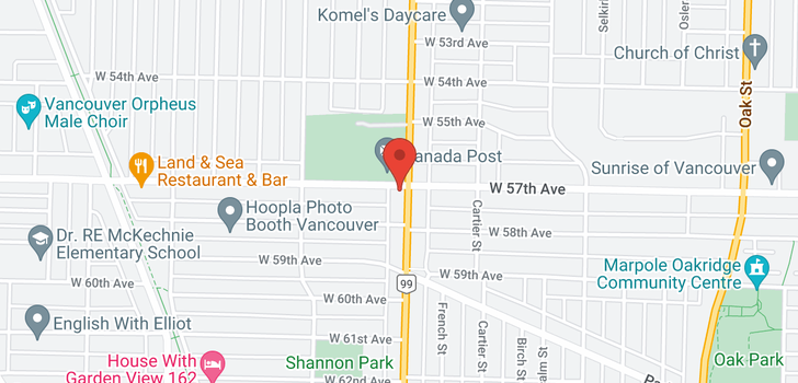 map of 11 1508 W 57TH AVENUE