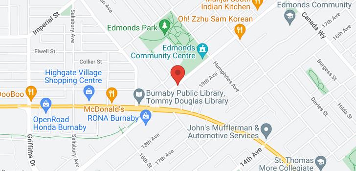 map of 907 7358 EDMONDS STREET