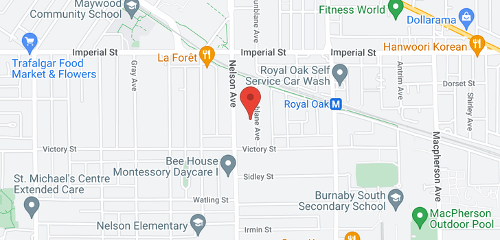map of 7025 DUNBLANE AVENUE