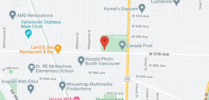 map of 204 1571 W 57TH AVENUE