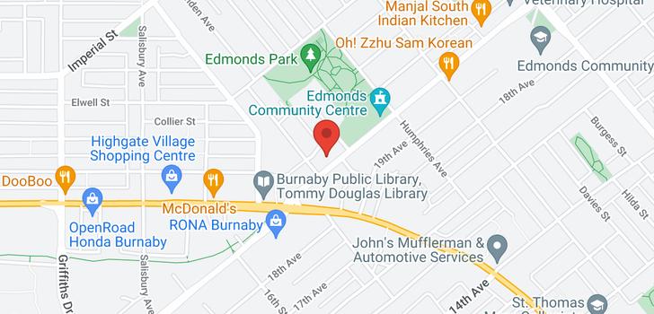 map of 3601 7358 EDMONDS STREET