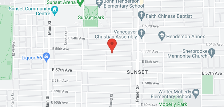 map of 536 E 55TH AVENUE