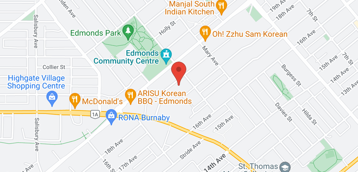 map of 204 7428 19TH AVENUE