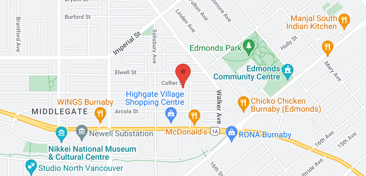 map of 805 7178 COLLIER STREET