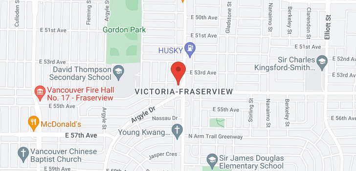 map of PH3 6991 VICTORIA DRIVE