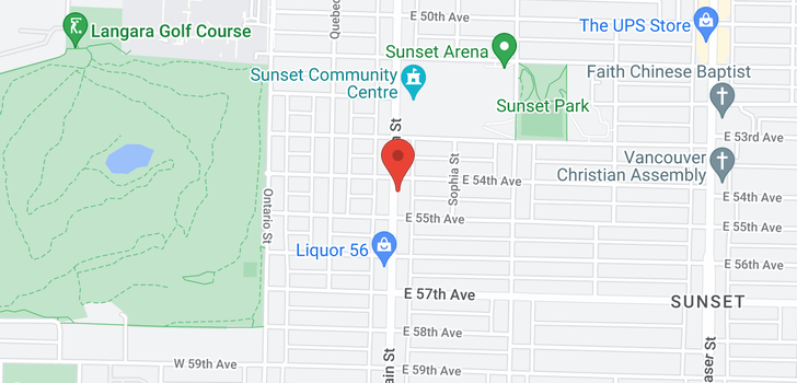 map of 7452 MAIN STREET