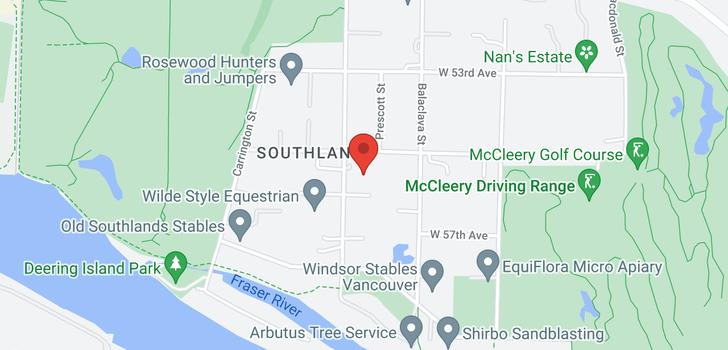 map of 7110 BLENHEIM STREET