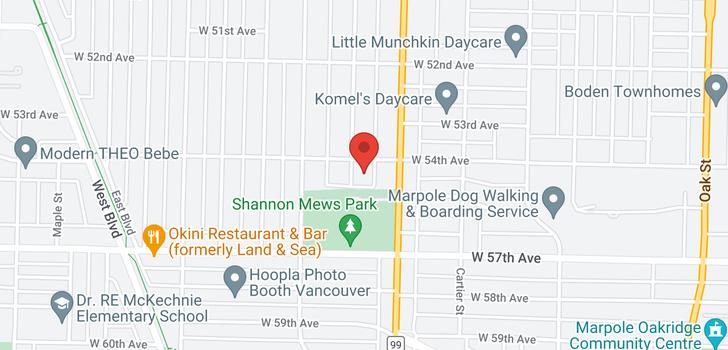 map of 7038 CHURCHILL STREET