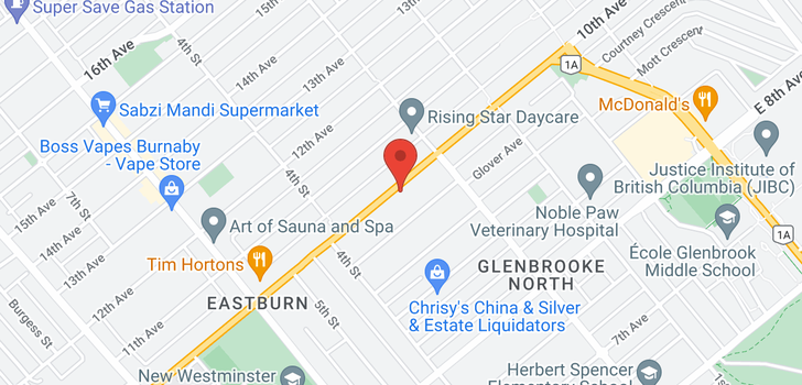 map of 222 TENTH AVENUE
