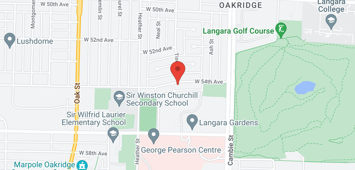 map of 680 W 54TH AVENUE