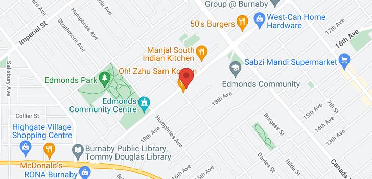 map of 7516 EDMONDS STREET