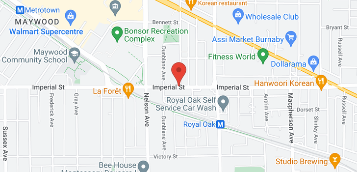 map of 505 5051 IMPERIAL STREET