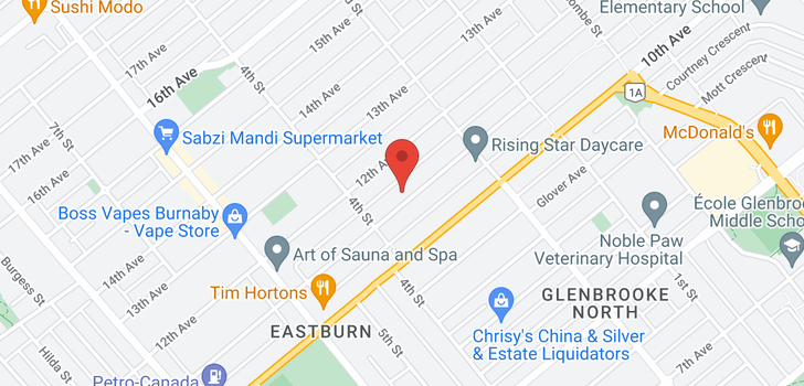 map of 8035 11TH AVENUE