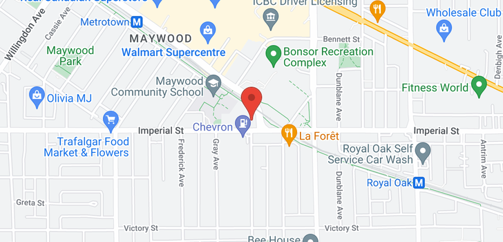 map of 305 4695 IMPERIAL STREET