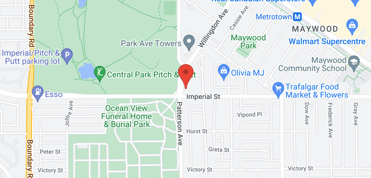 map of 1103 4105 IMPERIAL STREET