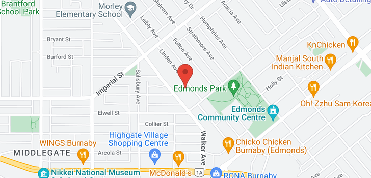 map of 6807 LINDEN AVENUE