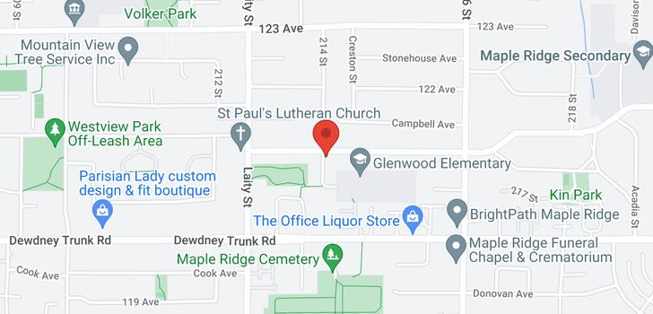 map of 12116 214 STREET