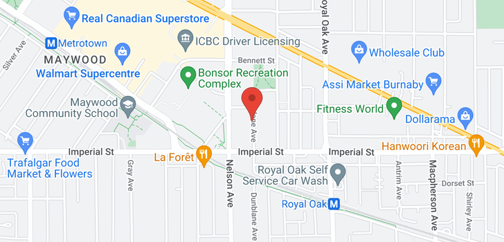 map of 6671 DUNBLANE AVENUE