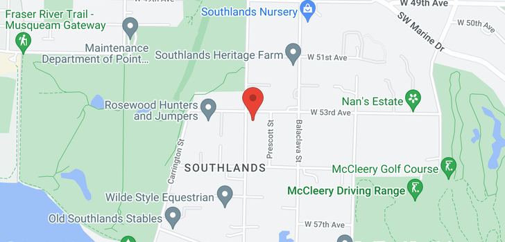 map of 6926 BLENHEIM STREET
