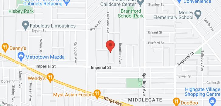 map of 6461 ELWELL STREET