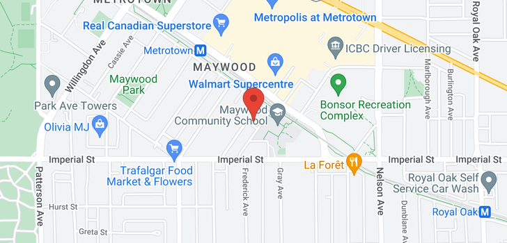 map of 705 6658 DOW AVENUE