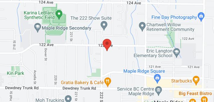 map of 101 12170 222 STREET