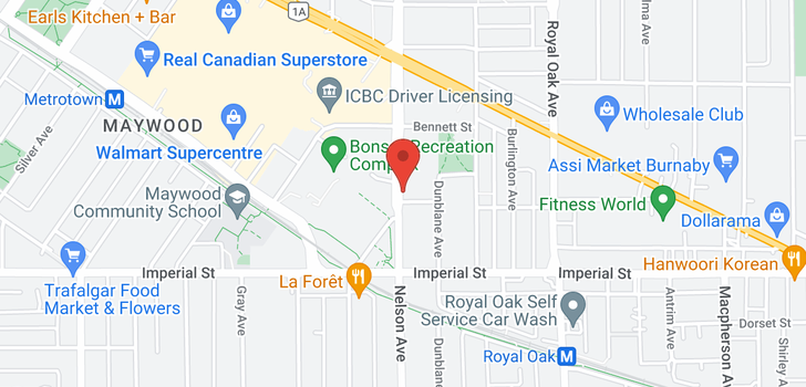 map of 3601 6588 NELSON AVENUE