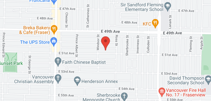 map of 1045 E 51ST AVENUE