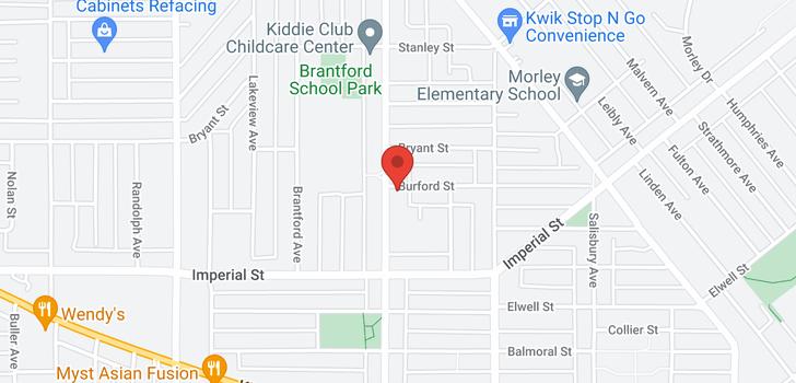 map of 6706 BURFORD STREET
