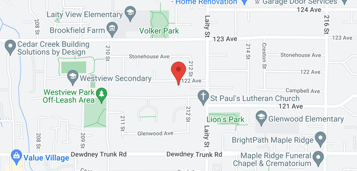 map of 21190 122ND AVENUE