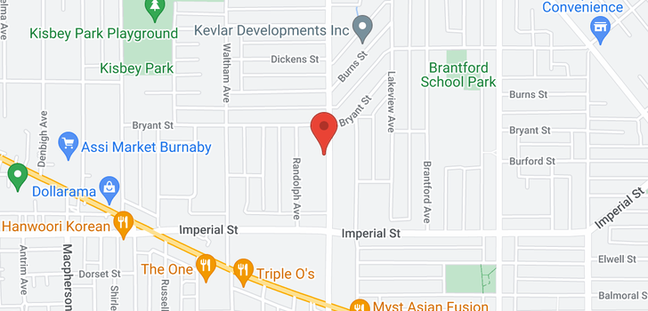 map of 6585 6587 GILLEY AVENUE