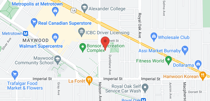 map of 305 6538 NELSON AVENUE