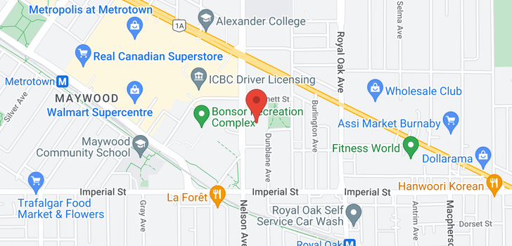 map of 2208 6538 NELSON AVENUE