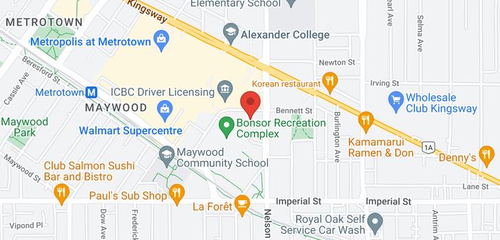 map of 505 4880 BENNETT STREET
