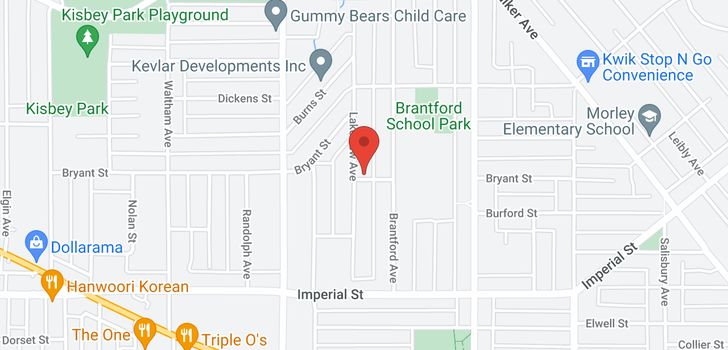 map of 6496 LAKEVIEW AVENUE