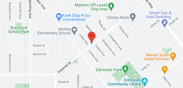 map of 7365 IMPERIAL STREET