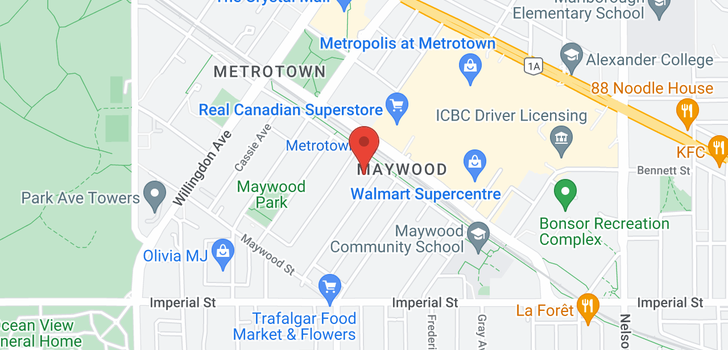 map of 903 6461 TELFORD AVENUE