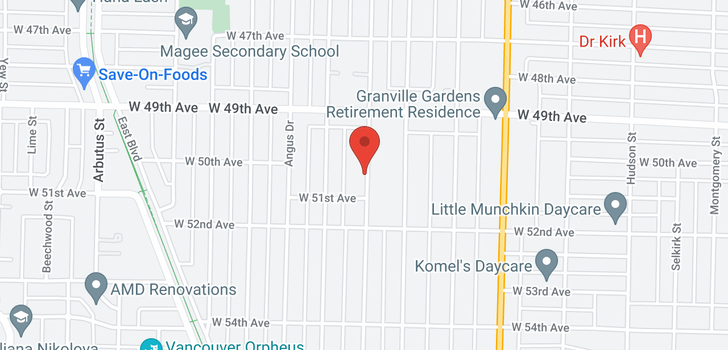 map of 6655 MARGUERITE STREET