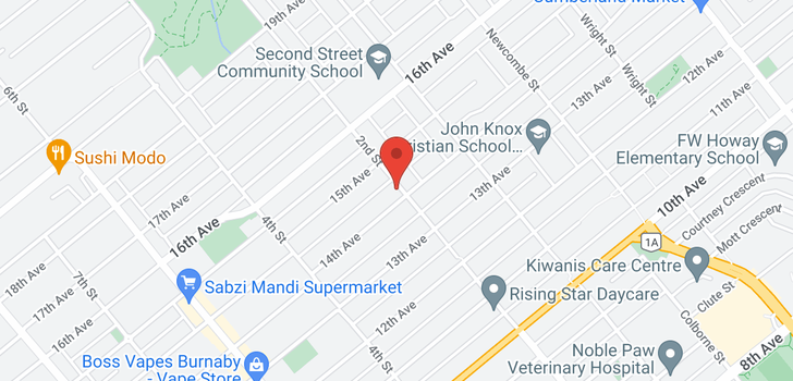 map of 7629 2ND STREET
