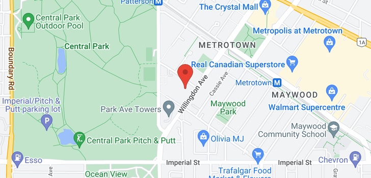 map of 1501 6455 WILLINGDON AVENUE