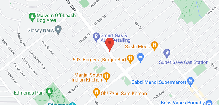 map of 6930 CANADA WAY