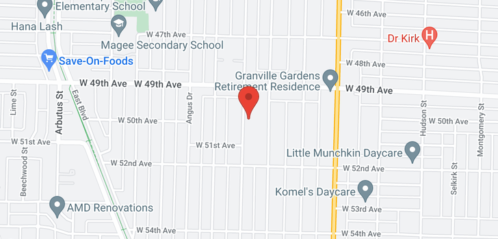 map of 6675 MARGUERITE STREET