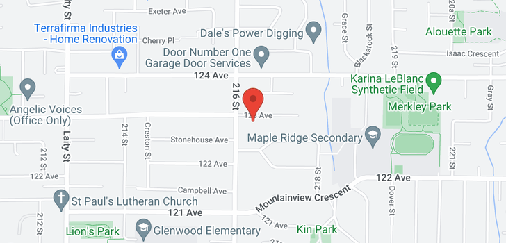 map of 21636 123 AVENUE