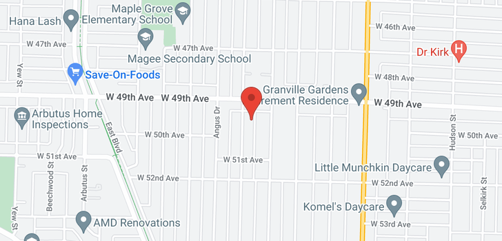 map of 6536 WILTSHIRE STREET