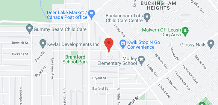 map of 6820 STANLEY STREET