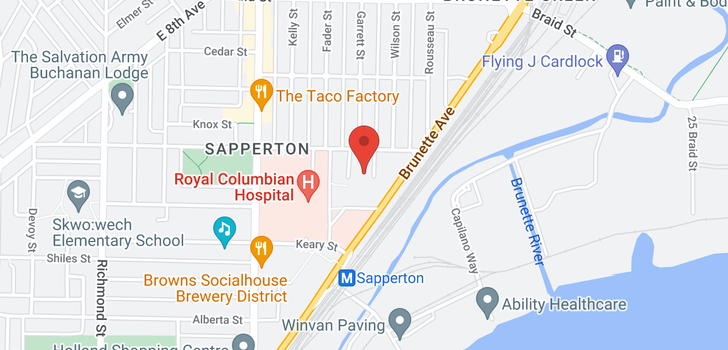 map of 3404 240 SHERBROOKE STREET
