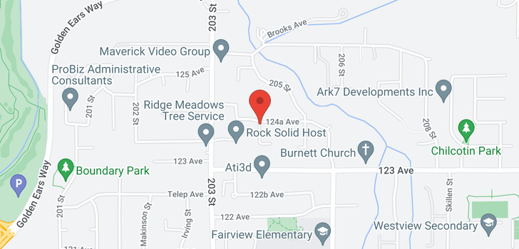 map of 12116 204B STREET