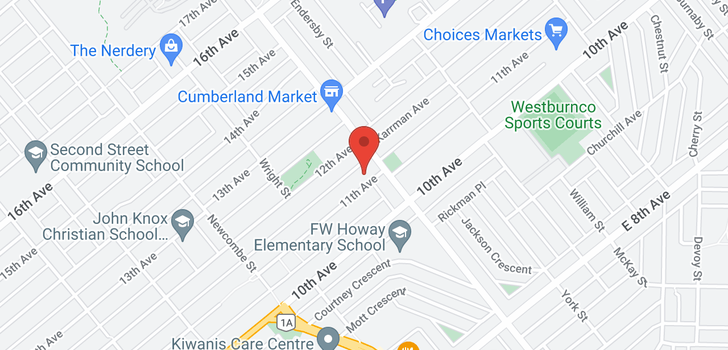 map of 8481 11TH AVENUE