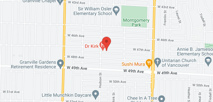 map of 1256 W 47TH AVENUE